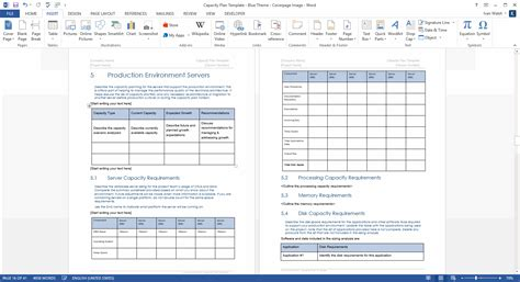 server template capacity plan template ms word sdlc documentation