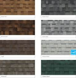 roof colors roof shingles color chart