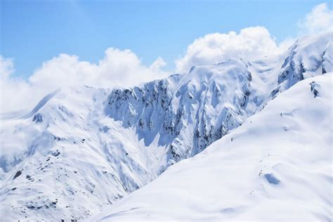 picture of snow snow mountain under cloudy sky 183 free stock photo