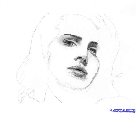 draw lana del rey step by step drawing sheets added by