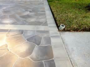 concrete designs florida flagstone driveway