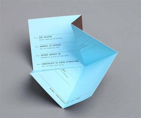 Origami Restaurant Menu - beautiful folds inspiration for folded fylers business