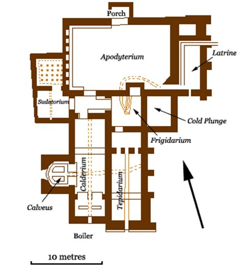 Roman Bath House Floor Plan | chesters roman baths bathroom decorating ideas