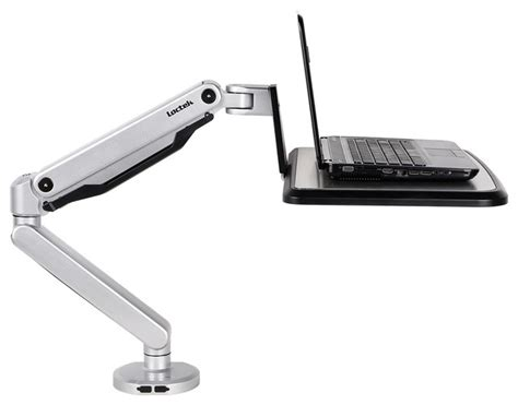 computer swing arm table loctek loctek sit stand workstation desk laptop mount arm