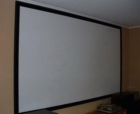 projection screen diy diy projector screen for 100 dollars