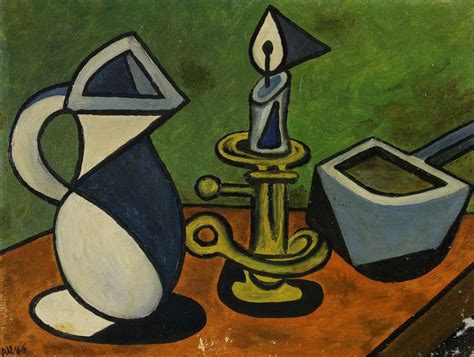 Synthetischer Kubismus Picasso by Monogrammed A U Dated 66 Still Cubism Like