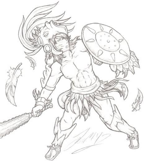 Aztec Eagle Warrior By Grimdarkcc On Deviantart Aztec Warrior Sketches