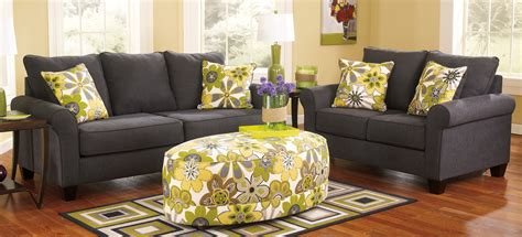 ashley furniture living rooms buy ashley furniture 1650138 1650135 set nolana charcoal
