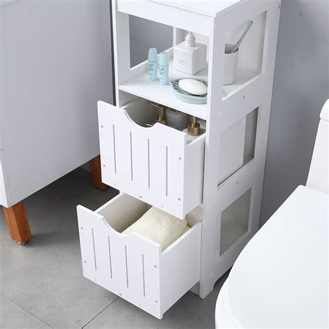 tier  drawer bathroom cabinet toilet storage shelf