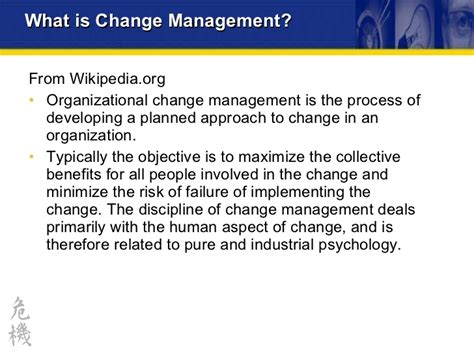 Planning And Change change transition management