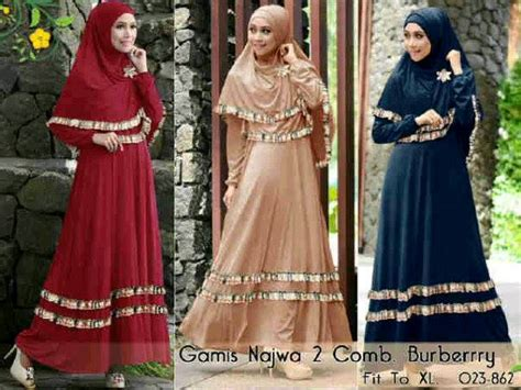 Gamis Mikaila Dress By Najwa photo gambar produk