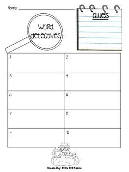 pattern recording sheet word detectives record sheet freebie literacy stations