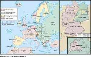 Map of europe after world war ii this map shows the soviet domination