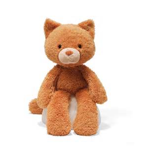 nwt gund fuzzy 13 5 quot orange plush cat stuffed animal ebay