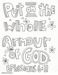 Whole Armour Of God Coloring Pages