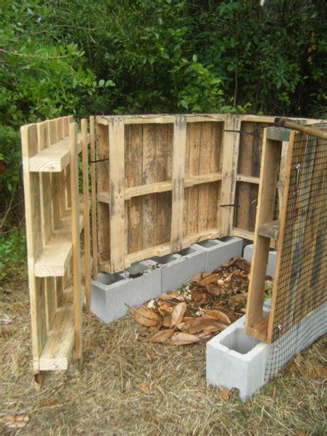 terrasse holz bauen 1844 a wood pallet compost bin thriftyfun