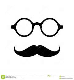 glasses with mustache stock vector image of artificial