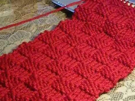 como tejer bufandas con agujas como tejer punto cesta con dos agujas parte 1 con ruby
