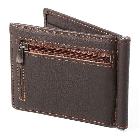Leather Wallet Coin s id credit card holder clutch bifold slim