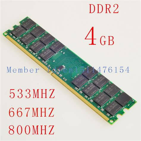 4 gb of ram 4gb ram desktop memory ddr2 533mhz 667mhz 800mhz pc2 5300