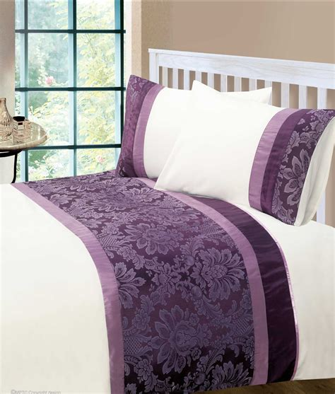 aubergine colour modern stylish damask bedding quality