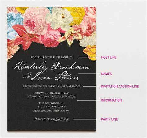 Wedding Invitations Writing by Wedding Invitation Wording Formal Modern A
