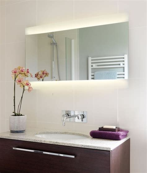 wide bathroom mirror wide illuminated bathroom mirror