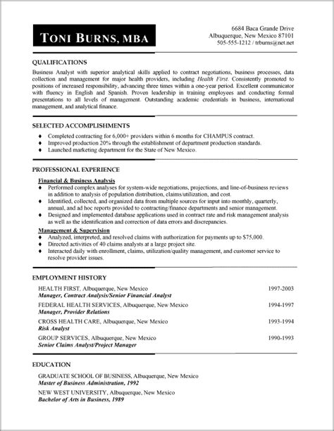 exle of functional resume for functional resume sles functional resumes
