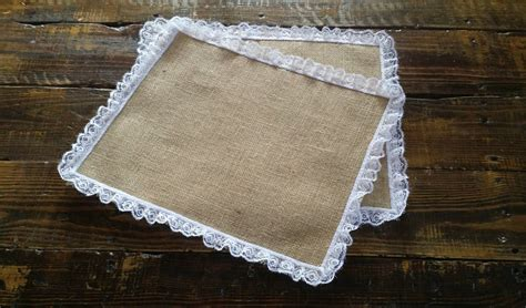 burlap and lace placemats rustic table decor burlap and lace