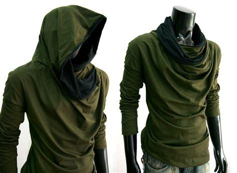 new green cloak sleeve turtle cowl neck hoodie shirt top s m l xl ebay