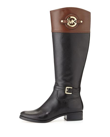 two toned boots michael michael kors stockard two tone leather boot