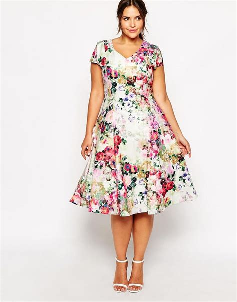 Flowery Dress 20 plus size floral dresses that scream the curvy fashionista