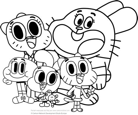 coloring pictures of the amazing world of gumball watterson family the amazing world of gumball coloring pages