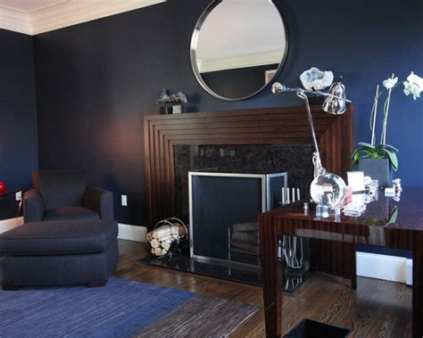 Accent Walls Living Room contemporary blue wall and white trim design sherwin