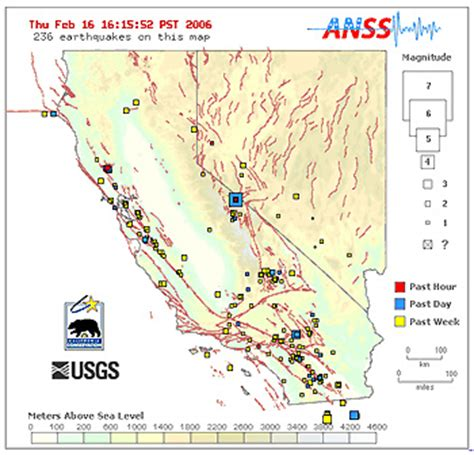 california map fault lines faultline earthquakes today recent live maps