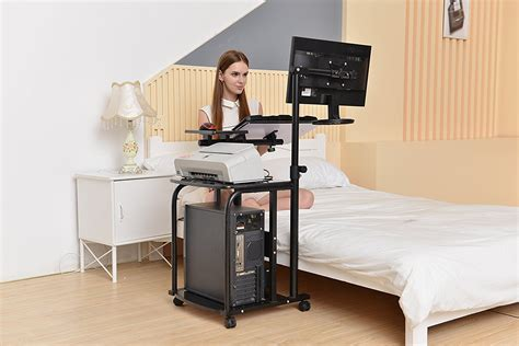 Compact Laptop Desk E Mobile Compact Computer Cart Computer Desk Pc Laptop Table Workstation Ebay