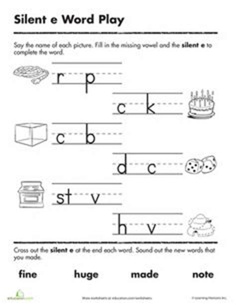 Silent E Worksheets by 1000 Images About Silent E On Silent E Word