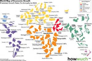 economic map of this world map shows the economic growth the coming