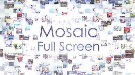 Mosaic Full Screen Free Photo Mosaic After Effects Templates