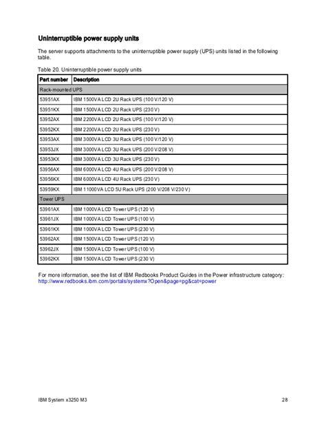 Ups Ibm 53952kx ibm system x3250 m3