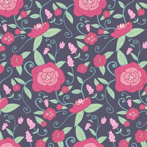 botanical pattern ai vector botanical floral design free vector in adobe