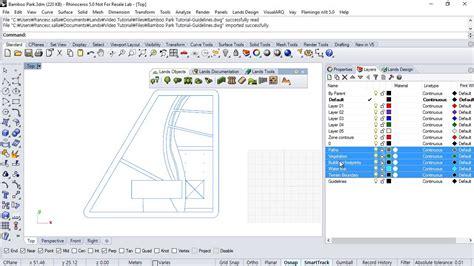tutorial lands design lands design tutorial 1 2 insert a dwg file in rhino
