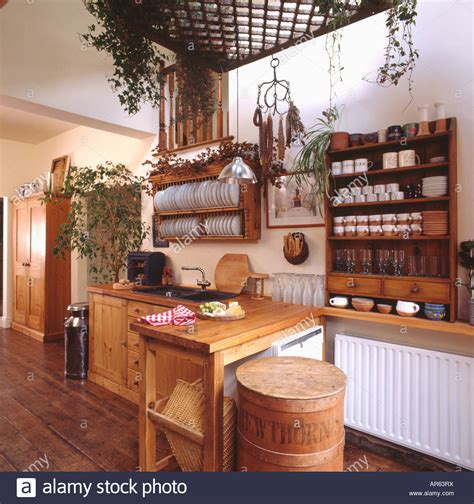 Pine Plate Racks For Kitchens extendable table and pine shelf unit and plate rack in