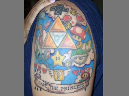 super smash bros tattoo 12 awesome mario bros tattoos techeblog