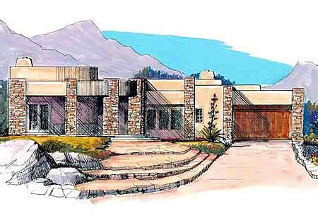 southwestern contemporary house plans house design plans