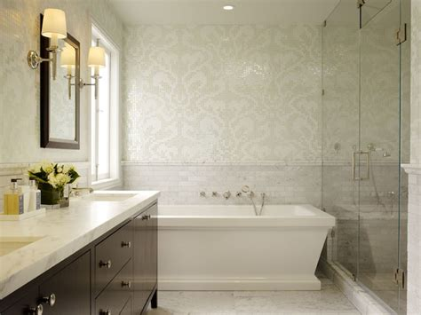 white marble tiles bathroom damask tiles for bathroom transitional bathroom