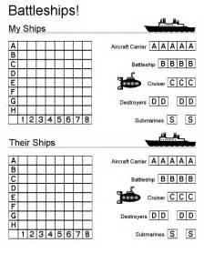 Battleship Board Template by Battleships Learningenglish Esl
