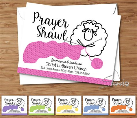 prayer shawl card template top fold cards ewe is stitching collection