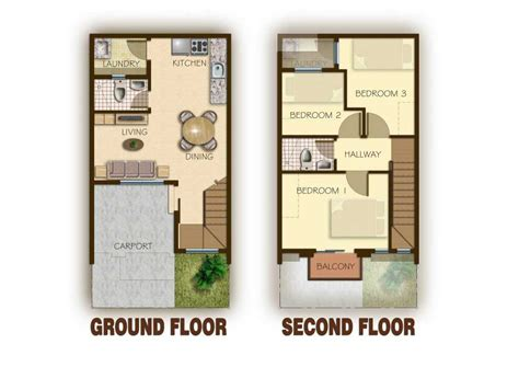 floor plan for 2 storey house ideas of 2 storey modern house designs and floor plans