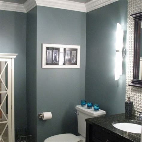 blue gray bathroom this color homes gray bathrooms basement